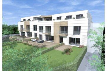 Nouveau projet à Capellen - Appartement 92,49 m² Nous avons le plaisir de vous présenter le nouveau projet résidentiel situé dans une zone résidentielle à Capellen. La résidence se compose de 10 appartements en future construction, dont 7 sont actuellement disponibles à la vente.  Rez-de-chaussée : 2 appartements   1er étage : 4 appartements 2ème étage : 1 appartement  Appartement A 1.2 au 1. étage de 92,49 m² plus balcon de 4,38 m². Tous les appartements disposent d'une cave et d'une loggia/terrasse ou d'un jardin.  Des places de parking intérieur sont disponibles à la vente séparément. (Voir conditions de vente ci-dessous) Les appartements ont été conçus avec des matériaux de qualité afin de garantir aux futurs occupants une excellente qualité de vie au quotidien.  Orientation: Est-Ouest Chauffage au sol réglable dans chaque pièce, ventilation double-flux garantissant une qualité optimale de l'air ambiant, triple vitrage, vidéophone, porte de sécurité, ascenseur.   Informations additionnelles :   Surface pondérée (balcon et terrasse inclus) : 94,68 m² Emplacement de parking : 24.271 EUR plus TVA vendu séparément     -Libre choix des revêtements et des équipements - Prix variable en fonction du choix -Non-meublé -Administration de copropriété professionnelle  Conditions de vente:  Type de contrat: VEFA Commission de 2% plus TVA entièrement à charge du vendeur  TVA 3% - Des droits d'enregistrement peuvent être applicables   We are happy to present this new residential project located in the lively yet tranquil sub-urban neighborhood of Capellen. The property is part of a 2 blocks building of 10 apartment in total of which 7 are still available for sale:   Ground floor: 2 apartments  1st floor:  4 apartments  2nd floor: 1 apartment All flats are sold with, cellar and outdoor living space (loggia/terrace), garden or both. Indoor parking lots are available separately. Details provided below (cfr. Selling conditions). The quality of construction meets the highest market
