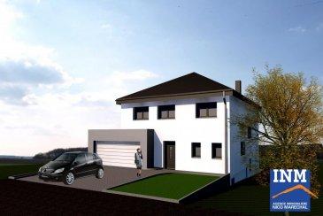 Jolie maison (Lot 9) de +/- 197 m2 (Ecopass: BB) prochainement en construction sur un terrain de +/- 8,15 ares offrant au: Sous-sol: hall (de +/- 9 m2), cave (de +/- 17 m2), buanderie (de +/- 18 m2), chaufferie (de +/- 17 m2); Rdch: hall d'entrée (de +/- 9 m2), wc séparé, bureau, cuisine non équipée ouverte sur séjour et salle à manger (de +/- 44 m2) donnant accès à une terrasse spacieuse (de +/- 25 m2), débarras séparé (de +/- 4 m2),  garage pour 2 voitures, un emplacement extérieur devant la demeure; 1er étage: hall de nuit, 3 grandes chambres à coucher (de +/- 14 à 17 m2), dressing séparé (de +/- 9 m2), salle douche (de +/- 6 m2), salle de bains (de +/- 6 m2); 2e étage/ combles: grenier (de +/- 53 m2). Sur demande, il est possible d'adapter le projet selon vos envies et aménager par exemple les combles en surface habitable.  Situation calme et ensoleillée à proximités de toutes les commodités quotidiennes. Folschette se trouve à environ 25 minutes de Mersch et d'environ 40 min de Luxembourg-Ville. Le prix affiché s'entend HTVA sur la part constructions à réaliser. GARANTIE DECENNALE.   Ref agence :882379