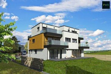 Progetra Luxembourg vous présente sa nouvelle résidence « MUMIAH » située à Pontpierre, rue de Schifflange.  Avec sa classe énergétique ABA, elle sera dotée d'une  pompe à chaleur air/eau qui dispose d'un coefficient de performance élevé, permettant de faire d'importantes économies d'énergie et de panneaux solaires en toiture. Pour le plus grand confort, le chauffage sera réalisé par le sol !  Cette résidence se compose de 4 appartements, un rez de chaussée avec son jardin privé et d'un abri de jardin 2 appartements au 1er étage, et un penthouse avec son accès privatif depuis l'ascenseur, tous dotés d'une terrasse orientée SUD.  Les appartements offrent des espaces de vies soigneusement réfléchis, un concept d'une architecture contemporaine comme le veut notre époque !  Libre des 4 côtés, la situation se veut quelque peu exceptionnelle, une vue dégagée et imprenable sur les champs, à proximité de toutes commodités, mixant ainsi la campagne à la vie citadine..  Un emplacement intérieur et un emplacement extérieur compris dans le prix !  Ce prix s'entend en partie avec une TVA 17 % et une TVA de 3% sous réserve de l'obtention de l'administration des contributions.