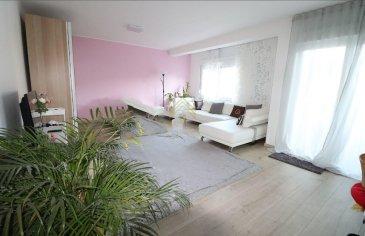 -- FR --  A quelques pas du centre piéton d\'Esch sur Alzette, appartement offrant 2 spacieuses chambres à coucher, d\'une surface habitable de 103 m².   Disponibilité : Début 2021  Distribution :  -Hall d\'entrée (11.5 m²) avec espace pour dressing -Living/salle à manger (32 m²) -Cuisine équipée (11 m²) -2 grandes chambres à coucher (18 m² + 15 m²)  -Balcon (5m²) -Salle de douche (6 m²) -WC séparé (1.5m²) -Débarras (2 m²) -Cave (6m2)  Inclus : Garage pour 1 véhicule - buanderie commune  Complément d\'informations : Chauffage : Gaz Environnement :  aire de jeux, tous types de commerces et restaurants, gare de Esch sur Alzette, arrêts de bus, Parcs, Hopitaux, accessibles à pied   Ecoles : Diverses crèches - école précoce et fondamentale - divers lycées.  Pour plus de renseignements ou une visite (visites également possibles le samedi sur rdv), veuillez contacter le 28.66.39.1.  Les prix s\'entendent frais d\'agence de 3 % TVA 17 % inclus.  Les visites ont repris, et nous sommes heureux de pouvoir à nouveau vous revoir ! Notre équipe sera équipée de gants et de masques afin de vous recevoir ou vous faire visiter nos biens en toute sécurité.   -- EN --  Located few steps from the pedestrian center of Esch sur Alzette, apartment offering 2 spacious bedrooms, with a living area of 103 sqm.  Availability : Early 2021  Distribution : -Entrance hall (11.5 sqm) with space for dressing cupboard -Living / dining room (32 sqm) -Equipped kitchen (11 sqm) -2 large bedrooms (18 sqm + 15 sqm) -Balcony (5 sqm) -Shower room (6 sqm) -Separate WC (1.5 sqm) -Storage room (2 sqm) -Cellar (6 sqm)  Included : Garage for 1 vehicle - shared laundry room Extra information :  Heating system : Gas Environment : playground, all types of shops and restaurants, Esch sur Alzette train station, bus stops, Parks, Hospitals, within walking distance Schools : Various nurseries - early and basic school - various high schools.  Ref agence : 73425