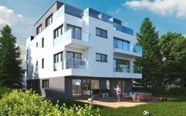 Résidence MARIE CURIE  Future construction d'une résidence de 6 appartements à Bereldange,  situation calme, près de la nature et à 12 min de Luxembourg ville.  Nouvelle résidence de haut-standing. Classe énergétique AA propose :   - App 146 m², 3 chàc, jardin 411 m² , 1.400.000 tva 3 %  Parking intérieur simple en supplément au prix de 30.000 ' TVA 3% comprise Parking intérieur double en supplément au prix de 50.000 ' TVA 3% comprise Parking extérieur en supplément au prix de 15.000 ' TVA 3% comprise  Pour des renseignements vous pouvez me contacter au 691 850 805.