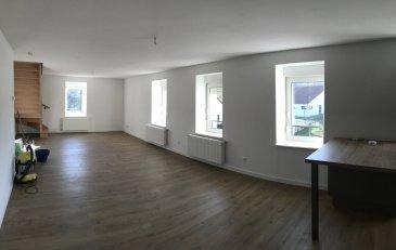 Bel appartement en duplex de 140m2 entièrement refait .  Appartement lumineux au troisième étage d'une corprorpiété entièrement refaite comprenant :  Au rez de chaussée :  - un grand salon séjour ouvert sur la cuisine équipée  A l'étage :  - un grand salon télé/salle de jeu/bureau  - 3 belles chambres  - une grande salle de bain  - un toilette séparé  - rangements    Le bien comprends aussi un cellier ( 14m2 ) et un garage fermé privé.  Loyer : 805EUR+45EUR de charges ( ordures ménagères, entretien de la chaudière, eau)  Loyer total : 850EUR charges comprises    Appartement libre de suite