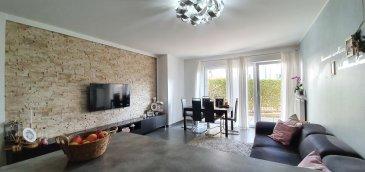 RM Unit vous propose à la vente cet appartement construit en 2008 et aux très belles prestations situé à Niederkorn, commune de Differdange.  L\'appartement se trouvant au rez-de-chaussée se compose comme suit:  - hall d\'entrée - une cuisine entièrement équipée (lave-linge inclus) ouverte sur le séjour - un salon / séjour donnant accès à une première terrasse - une salle de douche - deux chambres à coucher donnant toutes deux accès à la deuxième terrasse et au jardin  A l\'appartement vient s\'ajouter : un emplacement intérieur et une cave ainsi qu\'un étendoir commun.  Charges : 300€ (dont 50 € de fonds de réserve )  Pour toutes informations complémentaires, veuillez contacter l\'agence au nr de tél : +352 661 333 603 ou via email : info@rmunit.lu Ref agence : 220