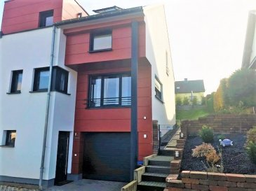 One modern and beautiful house of 165m2 to rent,  in Cruchten.   House will be rented semi fernished and vailable from June-July 2020.  Composed as follows: - ground floor: entrance hall with a big wardroob; a garage; a heating room and laundry, -  1st floor : one small room like a office with one big bed for guests, one separate toilet,  open kitchen with living room overlooking terrace and garden. -2nd floor: 3 bedrooms, one bathroom, one shower room. The house has an attic and 2 outdoor parking places.  - energyclasse B/B - floor heating - very nice and quite location - the railway station in 5 min by foot - special morning school-bus till the european school and inernational school in Luxembourg-city.   Hous will be vailable from June-July 2020.