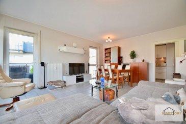 --------------- appartement exceptionnel -------------------  Sartori Immo, agence immobilière à Bettembourg a le plaisir de vous présenter ce splendide appartement au premier étage avec ascenseur dans une résidence très bien soignée de 2001 à Itzig.  L'appartement se compose d'un magnifique hall d'entrée , d'une belle cuisine équipée fermée, d'un grand et lumineux séjour donnant accès à un paisible balcon de 8,20m2, deux harmonieuses chambres à coucher, une charmante salle de douche et un WC séparé.  Vous disposerez également d'un emplacement intérieur privatif, d'un emplacement extérieur privatif, d'une cave privative de 3,6 m2.  Pour plus d'informations, veuillez contacter Monsieur Sanchez au 691 222 625 Ref agence :563