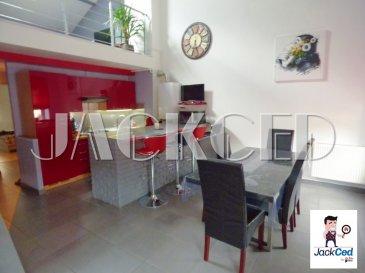 Appartement Fontoy 3 pièce(s) 70 m2. JACKCED présente :  Au sein d'une petite copropriété  entièrement réhabilitée de 2 appartements: Au 1er et dernier étage : Offrant de très belle prestation ! Lumineux F3 en duplex d'environ 70m² composé de:   Hall d'entrée, cuisine équipée ouvrant sur salle à manger de 25 m² (HSP de 4,42 m), en mezzanine: une grand salon de 21m², salle d'eau carrelé avec douche et meuble vasque, wc séparé, 2 chambres parquetées (10 et 12m²).  syndic bénévole, pas de charge commune. Aucun frais à prévoir !  Mr Antonoff:06-52-83-85-07  Copropriété de 2 lots (Pas de procédure en cours). Charges annuelles : 250.00 euros.