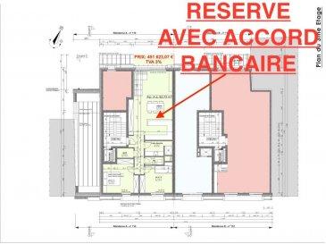 Votre agence IMMO LORENA de Pétange vous propose dans une résidence contemporaine en future construction de 8 unités sur 3 niveaux située à Pétange, 110, route de Luxembourg, appartement de 82.73 m2 décomposé de la façon suivante:  - Un hall d'entrée  - Un double living de 38,02 m2 avec cuisine ouverte. - Un WC séparé de 1,96 m2 - Une chambre de 14,46 m2 - Une deuxième chambre de 11.76 m2  - Une salle de douche de 5.34 m2 - Un rangement de 2,14m2  - Une cave privative, un emplacement pour lave-linge et sèche-linge au sous sol. Possibilité d'acquérir un emplacement intérieur (28.840 €)TTC 3%  Cette résidence de performance énergétique AB construite selon les règles de l'art associe une qualité de haut standing à une construction traditionnelle luxembourgeoise, châssis en PVC triple vitrage, ventilation double flux, radiateurs, video - parlophone, etc... Avec des pièces de vie aux beaux volumes et lumineuses grâce à de belles baies  Ces biens constituent entres autre de par leur situation, un excellent investissement. Le prix comprend les garanties biennales et décennales et une TVA à 3%. Livraison prévue juin 2022.  1,5% du prix de vente à la charge de la partie venderesse + 17% TVA Pas de frais pour le futur acquéreur   VOIR ABSOLUMENT!  Pour tout contact: Joanna RICKAL: 621 36 56 40  Vitor Pires: 691 761 110  Kevin Dos Santos: 691 318 013  L'agence Immo Lorena est à votre disposition pour toutes vos recherches ainsi que pour vos transactions LOCATIONS ET VENTES au Luxembourg, en France et en Belgique. Nous sommes également ouverts les samedis de 10h à 19h sans interruption.