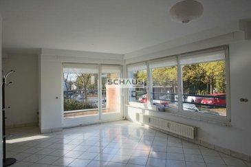 L\'agence immobilière Schaus vous propose ce charmant appartement au 1er étage, avec des espaces de vie bénéficiant d\'une belle luminosité et se composant comme suit :<br><br>- hall avec placard, <br>- cuisine équipée et aménagée, ouverte sur le living, <br>- living avec accès au balcon et volets électriques, <br>- 1 chambre à coucher<br>- salle de douche (WC, lavabo, douche)<br><br>A ceci s\'ajoute u une cave privative et une buanderie commune. <br><br>Possibilité de louer un emplacement intérieur en plus.<br><br>L\'immeuble dispose d\'un ascenseur. <br><br>Grace à sa situation géographique, l\'appartement a toutes les commodités à proximité.