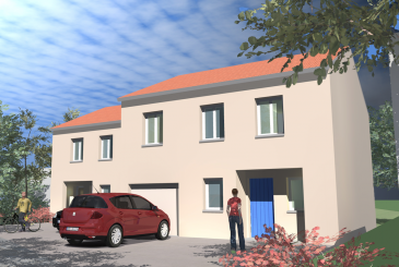 Dans une petite rue très calme de Sainte-Ruffine (Chemin de la Haie Brulée), belle maison au style village. Magnifique vue sur la ville de Metz.  Surface Habitable: 111,86 m2 Surface Garage double: 15,23 m2  Terrain de plus de 5,20 ares.  Au Rez-de-Chaussée: grand séjour avec cuisine ouverte, WC et garage; À l'étage: 3 chambres, salle de bain, WC séparé et espace bureau.  Accès rapide vers A31, ZAC d'Augny (centre commercial Waves) et à 5mn de Metz centre.  La maison respecte la réglementation thermique actuelle ce qui représente de faibles consommations de chauffage.  Assurance Dommage Ouvrage incluse Garantie de Parfait Achèvement incluse Branchements compris  Hors carrelage et peinture