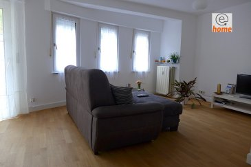 Please see below for English. Pour plus de renseignements et visites contactez le 621 30 30 30  Appartement spacieux de 1995 +/- 90m² avec 2 chambres. Situé dans une rue calme dans le quartier Luxembourg-Beggen. Très proche du centre ville, Kirchberg, de tous types de commerces et transports en commun.  L'appartement se compose comme suit :   Au 2ème étage - 2 chambres lumineuses - 1 grande cuisine équipée (2016) - 1 grand salon / séjour lumineux avec accès au balcon (orienté sud-ouest) - 1 salle de bain avec WC  - 1 WC séparé - 1 entrée / hall  - 1 Cave privative - 1 Parking privé à l'intérieur (box garage)  Information additionnelle:  Porte de sécurité à l'entree principle, parlophone, ascenseur, parties communes en très bon état, stationnement possible dans la rue.  Localisation: Accès facile au centre de ville, Lignes des buses : 10,11,   Meublé Loyer: 1.600 € Charges: 300 €  Duration de bail - court ou long terme   ---------------------------------------------------------------  For more information or viewing, please call 621 30 30 30  Spacious 2 bedroom apartment (1995) +/- 90m².  Located in a calm street in the district of Luxembourg-Beggen, close to the city centre, Kirchberg, all types of business and public transport.  The apartment consists of:  2nd floor: - 2 Bedrooms - 1 Large equipped kitchen (2016) - 1 living / dining room with access to the balcony (facing South-West) - 1 Bathroom with WC - 1 separate WC - 1 entry / hallway  - 1 private cave - 1 garaged private parking  Additional information: Security door at main entrance, intercom, elevator, communal areas in good condition, possible street parking.  Location: Easy access to city centre, bus lines : 10,11   Furnished Rent: 1.600 € Charges: 300€   Long or short term stay accepted