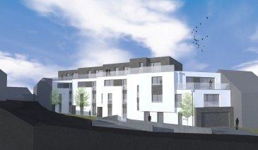 Appartement D1 Appartement d'une surface de +ou- 80.84m2 situé au rez-de-Chaussée avec une terrasse de +ou- 4.92m2 et un jardin privatif de +ou- 100m2. L'appartement dispose de deux chambres à coucher de 15.44m2 et 14.11m2, une salle de bains, un Wc séparé et une cave privative. Vous pourrez acquérir un emplacement intérieur au prix de 30.000,00€ ou un emplacement extérieur au prix de 15.000,00€ à 3% de TVA inclus.  Le projet comprend 4 nouvelles résidences à toitures plates de style contemporain dans une rue calme et sans issue dans la ville de Tétange.  Les 4 résidences regroupent 12 logements dont 2 appartements et 1 penthouse sur deux étages par bâtiment, le sous-sol est commun au 4 bâtiments. La résidence comprend 24 emplacements intérieurs et 2 emplacements extérieurs non inclus dans le prix. Chaque appartement dispose d'une cave privé. Les appartements sont spacieux et lumineux disposant de 2 à 3 chambres à coucher.  Chaque détail a été ici pensé afin de proposer aux futurs occupants un confort de vie optimal. Des équipements et matériaux haut de gamme sélectionnés avec le plus grand soin, des espaces extérieurs comme des terrasses et jardins privés pour les appartements au rez-de-chaussée et des terrasses avec une vue dégagée pour les biens aux étages supérieurs .