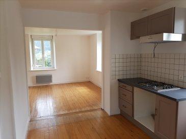 GERARDMER : EN RDC BEL APPARTEMENT TYPE F3  COMP : entrée, dégagement, cuisine équipée ouverte sur séjour,deux chambres, salle de bains, wc séparés et buanderie. Parking et terrain.