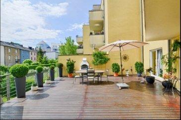 *** COUP DE CŒUR ***  HT immobilier vous propose ce bel appartement, situé à Bonnevoie, rue Goerges Marshall, à seulement 8 minutes à pied de la ville, dans une résidence calme de 2000.   Vaste et chaleureux de part son revêtement de sol entièrement en parquet, celui-ci dispose d'une surface de 135 m² est composé comme suit :  une large entrée ouverte sur un séjour et sa cuisine ouverte de plus de 37 m², donnant sur une terrasse exposée plein sud de 45 m², deux belles chambres de 13 m², une suite parentale avec salle de bain privative de 25 m², une salle de bain et un wc séparé. Une cave au sous sol est incluse.  Possibilité d'achat de deux parkings intérieurs, vendus à 80.000 € chacun, ou 150.000 € les deux.  Pour plus d'informations, n'hésitez pas à nous recontacter au 24 55 92 78 ou par mail : info@htimmo.lu.