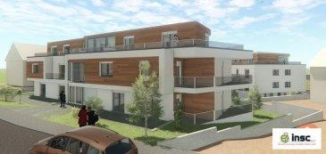 Nouvelle construction   PRIX TTC 3% Résidence Laura an Liz sise à Lamadelaine   Appartement 1 étage de 64 m2   hall d'entrée - cuisine ouverte - living avec un balcon de 5 m2 - 1 chambre à coucher avec balcon de 4 m2  - salle de douche - WC séparée - cave   Possibilité d'acheter un emplacement pour le prix de 30.000.-€  Ref agence :1212728