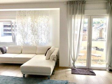 Immo Nordstrooss vous propose ce spacieux appartement  de+/- 103,21m² dans une résidence bien entretenue en Centre de Esch idéalement situé à proximité des transports (Gare, Bus), école, commerces, banques et crèches.  Celui-ci se compose comme suit : - Hall d\'entrée, - salon et salle à manger avec sortie vers une terrasse  - cuisine équipée, - 1 salle de bain, - 2 chambre à coucher.  Un garage, une cave, buanderie commune, local vélo complètent ce bien.  Pour plus de renseignements ou une visite (visites également possibles le samedi sur rdv), veuillez contacter le 691 850 805. Ref agence : 418