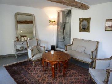 VARRAINS - Maison de Caractère - 4 chambres. Implantée dans le centre de Varrains à quelques minutes seulement de Saumur, cette belle ancienne du milieu du XIXème siècle vous séduira pas ses éléments de caractères ainsi que par ses volumes. Proposant une grande cuisine équipée et aménagée avec un salon avec belle cheminée ancienne, ainsi qu\'un grand double séjour, vous trouverez également 4 chambres, une salle de bain et salle d\'eau.<br/>Le chauffage est assuré par une chaudière alimentée au gaz de ville ainsi qu\'une cheminée à foyer ouvert.<br/>Accès à partir des pièces de vie vers une très grande terrasse bois.<br/>Pas de travaux à prévoir.<br/>Pour toute visite, ou informations complémentaires n\'hésitez pas à nous contacter. dont 5.00 % honoraires TTC à la charge de l\'acquéreur.