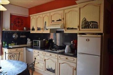 Très bel appartement situé au 1er étage au centre ville de Joeuf.<br>Comprenant une cuisine équipée ouvrant sur terrasse, un séjour, 2 belles chambres, grenier et sdb<br>Nbre de lots principaux 8<br>DPE D<br>