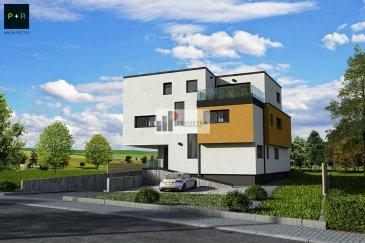 -- FR --  Progetra Luxembourg vous présente sa nouvelle résidence « MUMIAH » située à Pontpierre, rue de Schifflange.  Avec sa classe énergétique ABA, elle sera dotée d'une pompe à chaleur air/eau qui dispose d'un coefficient de performance élevé, permettant de faire d'importantes économies d'énergie et de panneaux solaires en toiture. Pour le plus grand confort, le chauffage sera réalisé par le sol !  Cette résidence se compose de 4 appartements, un rez de chaussée avec son jardin privé et d'un abri de jardin 2 appartements au 1er étage, et un penthouse avec son accès privatif depuis l'ascenseur, tous dotés d'une terrasse orientée SUD.  Les appartements offrent des espaces de vies soigneusement réfléchis, un concept d'une architecture contemporaine comme le veut notre époque !  Libre des 4 côtés, la situation se veut quelque peu exceptionnelle, une vue dégagée et imprenable sur les champs, à proximité de toutes commodités, mixant ainsi la campagne à la vie citadine..  L'appartement 1 du RDC, se décompose comme suit : Jardin de 638 m2 Terrasse de 52.84 m2 Hall d'entrée : 7.82 m2 WC séparé : de 1.89 m2 Séjour/cuisine : 44.60 m2 Chambre 1 de 14.62 m2 et sa salle de douche de 4.51 m2 Chambre 2 de 11.08 m2 Chambre 3 de 13.04 m2 Salle de douche de 6.38 m2  Un emplacement intérieur et un emplacement extérieur compris dans le prix !  Ce prix s'entend en partie avec une TVA 17 % et une TVA de 3% sous réserve de l'obtention de l'administration des contributions. Ref agence :1