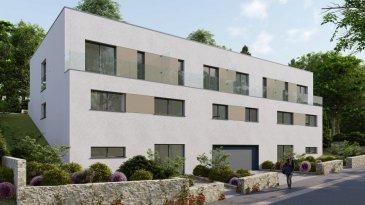 HOMESELL Immo vous propose un projet neuf situé à Lorentzweiler Résidence «PLEIN SUD»  Nouveau projet de construction de 2 maisons bi-familiales à Lorentzweiler, sur un terrain de 10 ares 16 ca, proche de toutes commodités et des routiers grands axes. Le duplex libre de 3 cotés lot 8 d'une surface habitable 118m² se compose comme suit:  Au Sous Sol: Garage commun avec 8 emplacements au total, caves individuelles entre 5,45 m2 et 5,90 m2 / Chaufferie commune / Buanderie commune / Local poubelle commun / Technique locale Au RDC, avec accès sur la terrasse et le jardin: Salon / salle-à-manger et cuisine ouverte environ 60m² Hall d'entrée de 1,70 m2 WC séparé de 1,35 m2 Terrasse entre environ 24m² Jardin environ 50 m2 Au 1er étage, avec accès à un balcon à l'avant et à l'arrière.  Pour plus de renseignements veuillez nous contacter: info@homesell.lu  Tel: 281122-1 HOMESELL Immo