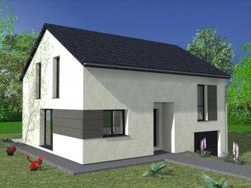 Dans ce charmant village situé à 10 km de Bouzonville et 30 km de Thionville, nous vous proposons cette maison moderne à étage en demi niveau. Au rez-de-chaussée / 1er étage, vous entrez dans un lumineux  salon/séjour/cuisine de 35 m2. Vous y trouvez également 2 chambres et un WC séparé. A l'étage, deux chambres dont une suite parentale avec dressing et une salle de bain. Et au sous-sol, un garage pour une voiture.  Cette maison est optimisée afin de vous garantir le meilleur rapport qualité/budget.  Aussi, ce modèle est entièrement personnalisable comme l'ensemble de nos créations
