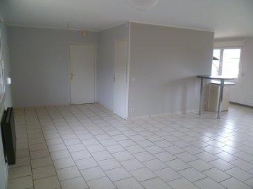 A vendre, bel appartement traversant au 1er étage d'une résidence de 3 appartements situé au 6 Rue du Carreau 57330 Entrange. Cet appartement à été complètement rénové en 2013. Appartement en très bon état, aucun travaux à prévoir. Description des lots à vendre:  1 appartement de 80.65 m2 - 2 chambres à coucher -1 salle de bains avec WC - 1 espace ouvert living - 1 cuisine équipée ouverte Chauffage électrique, fenêtres à double vitrage, volets roulant extérieur   2 garages fermés de 16.50 m2 chacun 1 surface sol pavé devant la résidence de 55 m2 1 jardin privatif de 136 m2 à l'arrière de la maison avec pelouse 1 surface parking de 45 m2 1 surface terrain devant la résidence de 65 m2  Prix de vente: 215 000.00 euros FAI (Frais d'Agence Inclus) Taxe foncière: 740.00 euros / an Taxe d'habitation: 760.00 euros / an  Disponible pour le 1er mars 2018  A venir découvrir rapidement  Votre personne de contact est M. Yves ROGOWSKI disponible au 00352 621 455 455