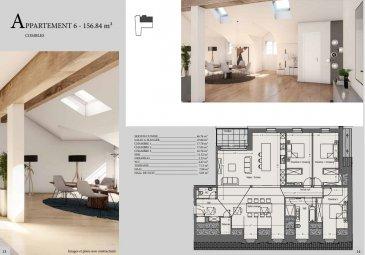 EFA Promo vous propose un appartement dans une résidence en cours de construction à Mondercange.<br><br>Utilisant des matériaux noble et chic, cette résidence de haut standing  à tous les atouts pour vous combler de bonheur.<br><br>Appartement numéro 6 situé dans les combles. <br><br>-Séjour / cuisine:  46.76m2<br>-Salle à manger : 27.80m2<br>-Chambre 1 avec dressing : 17.78 m2<br>-Chambre 2 : 17.05 m2<br>-Chambre 3 : 16.76m2<br>-SDD: 5.47 m2<br>-WC : 2.67 m2 <br>-Débarras : 2.23 m2<br>-Hall de nuit : 5.03 m2 <br>-Hall : 7.08 m2<br>-Terrasse : 7.13m2<br>-Cave: oui<br><br>Prix avec TVA 3% incluse <br><br>Pour recevoir les plans et cahier des charges, contactez :<br><br>Emmanuel : 691355050<br>Email :manuefapromo@gmail.com<br><br>Jordan: 691 129 633<br>Email: jordan@efapromo.lu<br><br><br>