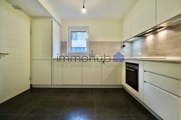 (FR) immohub, votre partenaire dans l'immobilier à Luxembourg- Kirchberg (Val des Bons Malades), vous propose en exclusivité un appartement de +/- 94 m2 situé au premier étage d'une résidence (2012) à 10 unités.??L'appartement se compose comme suit:? -Hall d'entrée 11 m2 ?-WC séparé (soft close) 1,5 m2 ?-Chambre I 12,50 m2 -Chambre II 9,00 m2 -SDB 7,0 m2 (baignoire, WC, 2 lavabo simples) possibilité de créer une douche -Cuisine équipée ouverte 13 m2 ?-Arrière cuisine 2,5 m2(possibilité d'arranger une buanderie) -Double séjour 33 m2 avec accès au balcon de 8 m2?  Détails: ?-construction : 2012 ?-ascenseur? -emplacement intérieur -triple vitrage ?-châssis en PVC ?-screens extérieurs -CPE : B/B? -cave privative / buanderie en commune ?-VMC? -Placards encastrés — Casa milano?  Alentours:? -European school -Arcelor Mittal -Centre national sportif et culturel COQUE -Auchan Kirchberg / Kinepolis -zones de détentes et de verdure de long de l'Alzette  -la proximité des institutions européennes, des banques, des sociétés internationales, des centres de conférences du quartier Kirchberg -proximité des hôpitaux?-proximité de la gare de Domeldange   (EN) immohub, your partner for real estate in Luxembourg-Kirchberg, proposes you this modern apartment of +/- 94 sqm situated on the 1st floor of a residence dating from 2012. ??The apartment is laid out as follows:  -Entrance hall 11 sqm? -Separate toilet (soft close) 1,5 sqm ?-Bedroom I 12,50 sqm -Bedroom II 9,00 sqm -Bathroom 7,00 sqm (bathtub, toilet, two single sinks); possibility to create a shower -Fully equipped open kitchen 13 sqm ?-Storage room 2,5 m2 (possibility to arrange a laundry) -Living room 33 m2 with access to the balcony of 8 sqm  Details: ?-Construction : 2012 ?-Elevator ?-Residence of 10 units? -Interior parking space -Triple glazing; PVC frames; Exterior screens -Energy passport : B/B ?-Private basement -Shared laundry -VMC ?-Build-in shelves : Casa milano?  Surroundings: -European school Luxembourg -Arcelor Mi