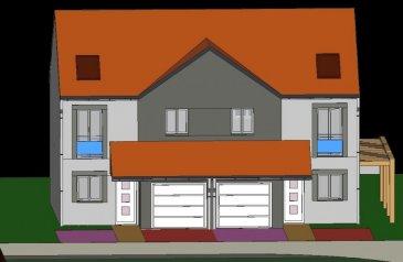 A Piedmont (Mont-Saint-Martin), dans un environnement calme, Nouveau lotissement, proche commodités, Maison jumelée, 1 garage 1 voiture, 2 places de parking,  RDC: entrée, cuisine ouverte sur séjour (34.80m²), w-c (1.70m²), ETAGE:  3 chambres(9.6/12.4/12.5m²), SDB avec w-c (6.20m²),  palier (3.30m²),  sur 1.96 ares de terrain. Livraison prévue au 4èmeTrimestre 2022.