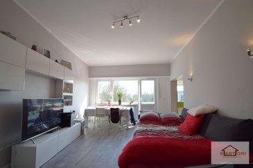 SARTORI, agence immobilière à Luxembourg vous propose en location ce splendide  appartement de 72m2 au Rez-de-chaussée sans ascenseur dans un immeuble construit en 1970 dans la rue de Bettembourg à Hesperange .  L'appartement se compose d'un hall de 14,41m² qui sépare toutes les pièces, d'un Wc séparé de 1,35m², d'une magnifique cuisine équipée de 11,70m², d'une salle de bain de 4,41m², d'un lumineux séjour de 21,14m² donnant accès au balcon de 5m², d'une harmonieuse chambre de 14,80m² où vous disposerez d'un dressing de 4m².   Vous disposerez d'un emplacement extérieur  d'un garage box fermé de 21 m2 avec électricité, évacuation d'eau et connexion pour la machine à laver et d'une cave privative de 5m².                                        ------------ IMPORTANT ------------  -Dalles en béton -Façade 2014 -Fenêtres double vitrage 2013 -Chambre situé côté arrière   - Loyer 1300' - Charges 250' - Caution 2600' ( 2 mois de loyer )   Pour plus d'informations vous pouvez prendre contact avec Mme Batista au 691 905 150 . Ref agence :323