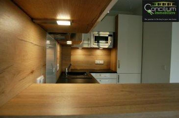 CONCILIUM Immobilière , Vous propose un superbe duplex en location dans une maison bi-familliale à 2 unités complètement rénové.  - Hall d'entré, - Cuisine équipée ouverte sur salle à manger et salon, - WC séparé, - 1 chambre à coucher avec possibilité d'aménager un dressing, - salle de bain avec douche italienne, - Grand garage 15,5m2, - Terrasse 11,3m2 - très grande cave 28,5m2 - Jardin privatif  L'appartement est équipé de chauffage au sol sur toute la surface  Situation calme et coeur de Strassen.  Venez découvrir ce duplex sans tarder   ***Nous recherchons en permanence pour la vente et pour la location, des appartements, maisons, terrains à bâtir etc pour notre clientèle. N'hésitez pas à nous contacter si vous avez un bien pour la vente ou la location.***    Estimations gratuites.  Pour l'obtention de votre crédit, notre relation avec nos partenaires financiers vous permettront d'avoir les meilleurs conditions, inclus dans nos services GRATUITS.
