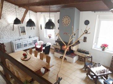 SANCY:  Dans impasse, très belle maison en pierre de taille de 135m² composée d\'une vaste entrée avec placard, une cuisine donnant sur le jardin, un salon ouvert sur un spacieux séjour avec cheminée, 3 chambres carrelée, une grande salle de bain avec douche et baignoire. Un garage avec espace atelier, un verger (non attenant). Maison très bien entretenue, pas de travaux à prévoir.  Honoraires charge vendeurs.  DPE en cours.   LENOIR IMMOBILIER : Vente, Location, Gestion.  www.lenoir-immobilier.fr