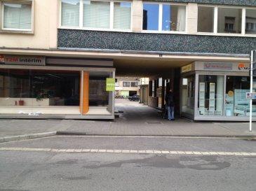GARAGE FERME situé à côté de la poste au centre de la ville d'Esch-sur-Alzette