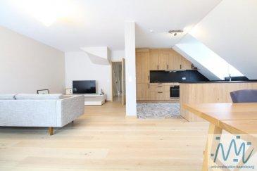 Dans le charmant village de Limpach  : ''active relocation luxembourg'' vous propose un fabuleux duplex de 123,60m² récemment rénové avec goût et situé au 2è et 3è étage (sans ascenseur) d'une petite résidence construite en 2005.  Celui-ci comprend : -Au 1er niveau : un hall d'entrée, une magnifique cuisine ouverte sur le lumineux séjour (parquet massif), 2 chambres, une salle de douche, 1 WC séparé. -Au 2ème niveau : un hall de nuit en mezzanine, 1 grande chambre, une salle de bain avec WC. Ce bel objet est complété par un double emplacement de parking intérieur en suite (33,50m2), une cave, une buanderie commune, un jardin commun.  Disponibilité: immédiate Prix du bien: 828.000 Euros. Les frais d'agence sont à la charge de la partie venderesse.   Situé au cœur du village de Limpach (Commune de Reckange sur Mess), arrêt de bus à 100 m (lignes 210, 211, 312, 313, 341), à 5km de Foetz, 7km d'Esch-sur-Alzette et 13km de Luxembourg-ville, Limpach se situe au centre de toutes les commodités.  Si vous pensez vendre ou louer votre bien, active relocation luxembourg est à votre service pour vous conseiller au mieux et vous faire profiter de toutes ses compétences en vue de commercialiser votre bien de manière professionnelle et rapide.  +352 270 485 005 info@arlux.lu www.arluximmo.lu