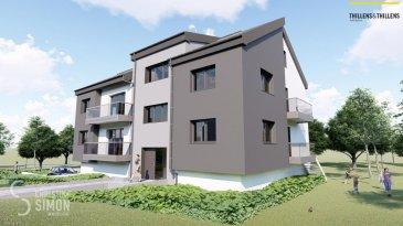 Résidence Am Lëtschert à Boevange-sur-Attert, 75, rue de Helpert. Commune de Helperknapp  Elle se situe à 12 minutes de Mersch, 11 minutes de Colmar-Berg, 6 minutes de Bissen et 27 minutes du Kirchberg et 23 minutes de Diekirch. Elle se compose de 4 appartements de 61 m2 à 200 m2. Chaque appartement dispose d'un garage intérieur et un emplacement extérieur.  Chaque appartement a été aménagé avec un grand soin de détail et offre des prestations et des matériaux de grande qualité, dont quelques exemples de finitions: -Triple vitrage -Balustrade en verre -Ventilation controlée -Revêtement de sol haut de gamme -Equipement sanitaire contemporain et complet. -Chauffage à Pellets Vous pouvez acquérir en option un emplacement extérieur ou intérieur.   Tous les prix annoncés s'entendent à 3% TVA, sujet à une autorisation par l'administration de l'enregistrement et des domaines. Garantie décennale, Garantie d'achèvement et Garantie TRC. Ref agence :5339000