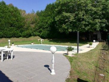 Implantée à LONGUYON dans un écrin de verdure  de  1700 m²  !  Belle propriété de standing -  construction en pierre de taille -  d'une superficie habitable de 230 m², ainsi composée :  - Rez-de-jardin : HALL d'accueil desservant un appartement de 54 m² avec CUISINE équipée/bar ouverte sur belle PIECE de VIE, CHAMBRE + SALLE d'eau carrelée +w-c.  - puis : un local technique  pour piscine, sauna,  - Rez-de-chaussée : 1 CHAMBRE 9 m², ESPACE de VIE avec coin bureau, suite parentale climatisée : CHAMBRE 17,5 m² avec dressing aménagé et SALLE de BAINS baignoire-jacuzzi, douche, double vasque et w-c,  1 CHAMBRE 15 m²,  coin SALON 24 m² cheminée et SEJOUR 41 m² très lumineux avec 40 m² de véranda ouvrant sur 170 m² de terrasse, jardin d'agrément sans vis à vis, avec PISCINE chauffée 12/5 m + abris de jardin.   Grenier isolé toiture refaite en 2006. Installation d'un chauffage central au gaz, fenêtres en double vitrage avec volets, alarme et caméras de surveillance  Extérieurs : GARAGE 1 voiture + PARKING jusqu' à 10 V.  contacter : Rocco PANETTA au 06.88.56.77.94
