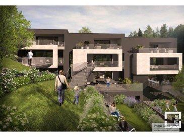 *****R E S E R V E***** Immo Casa vous propose une nouvelle résidence située dans le quartier du Kiem à Luxembourg-Neudorf offrant des prestations de très haut standing.  Trois immeubles de 3 étages composé de 9 logements dont 3 penthouses.  Les appartements bénéficieront de 2 orientations ce qui permettra une luminosité optimale puisqu'ils seront traversants.  Nous vous proposons par exemple ce logement comprenant une cuisine ouverte sur le salon donnant accès sur une terrasse (12.75m2), 2 chambres à coucher, deux salles de douche, un wc séparé, une cave et un jardin privatif (60m2). La conception à l'arrière du bâtiment permettra aux résidents d'accéder à leur jardin privatif.  Les prix affichés avec la TVA de 3%  Possibilité d'acquérir une place de stationnement intérieur à 55 000 € HTVA.  Pour d'autres informations veuillez contacter l'agence. Ref agence :1906556