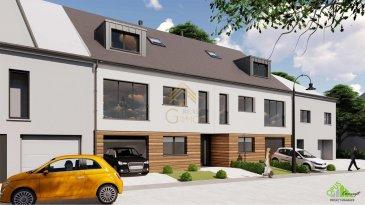 REAL G IMMO, vous propose cette future construction à Garnich de  /- 180m².  Cette maison vous offrira de beaux espaces de vie répartis comme suit: Hall d'entrée, cuisine ouverte sur le salon et salle à manger donnant accès à une terrasse de 21m², débarras, 3 chambres à coucher dans l'une avec une salle de douche privée, toilette séparé, salle de bain.   À ce bien s'ajoute, une cave, un garage pour deux voitures, local chaufferie et un jardin.   Délai de livraison : fin 2020  Tous les prix annoncés s'entendent à 3 % TVA, sujet à une autorisation par l'Administration de l'Enregistrement et des Domaines.  Nous sommes disponibles pour vous faire une présentation de la maison et du cahier de charges, n'hésitez pas à nous contacter 28.66.39-1 ou bien par mail : info@realgimmo.lu.  Les prix s'entendent frais d'agence de 3 % TVA 17 % inclus. Ref agence :73031