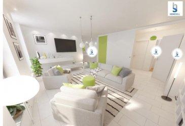 HOMESELLvous propose un grand Penthouse de 87.23 m2 situé au 3éme étage en plein centre de Diekirch  qui se compose:  - Hall d'entrée avec accès privatif vers l'ascenseur - Séjour avec grande baie-vitrée - Cuisine séparée - 1 chambre à coucher avec parquet en semi-massif - Salle de bain avec baignoire - Grande terrasse de 19,81 m2 - Débarras - Cave privative de 3,08 m2     Cet appartement dispose d'une belle luminosité grâce a ses fenêtres et porte fenêtres d'une hauteur de 2,10m équipées de triple vitrage avec store à lamelles.  Un chauffage écologique et économique vous permettra de limiter vos dépenses grâce au chauffage urbain.  Equipé avec système de chauffage au sol   Construit avec des matériaux de qualité supérieur et dans le respect de l'art il vous est possible d'aménager l'intérieur selon vos besoins et désirs.   Idéalement situé au cœur de Diekirch, la proximité des commerces et des transports en commun vous facilitera dans votre quotidien.   Pour plus d'informations contactez-nous au:281122-1 ou surinfo@homesell.lu   Prix de vente à 3% de TVA sous réserve de l'accord de l'Enregistrement   (Livraison 2019)   Ref agence :5