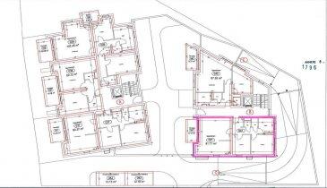 RCI - REFFAY Christophe Immobilien vous propose ici,    dans une résidence de 15 unités située à WILTZ, un appartement avec les caractéristiques suivantes :   - lot A06 - au 1er étage -  /- 90,37 m2 - 2 chambres  - balcon de  /- 8 m2 - 2 emplacements de parking sous-terrain - prix avec 17 % de TVA : 482.394,86 EUR  Pour tout renseignement, merci de contacter  RCI - REFFAY Christophe Immobilien au  691 661 661   --------------------  RCI - REFFAY Christophe Immobilien presents here,  in a residence of 15 units located in WILTZ, an apartment with the following characteristics:  - lot A06 - on the 1st floor -  /- 90.37 m2 - 2 bedrooms - balcony of  /- 8 m2 - 2 underground parking spaces - price with 17% VAT: 482.394,86 EUR  For any information, please contact RCI - REFFAY Christophe Immobilien at 691 661 661 Ref agence :V_2019_12_A06