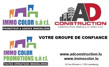 Immo Color Sàrl a le plaisir de vous proposer un appartement situé dans la belle localité de Koerich, à seulement 15min de la Ville de Luxembourg. Se compose de 2 chambres à coucher, grand salon, salle à manger et cuisine ouverte sur le living, une salle de douche, WC séparé. Garage pour deux voitures. Pas d'ascenseur, pas de balcon.  disponible à partir du 15 Mars 2021  Dossier de candidature à envoyer par mail à contact@immocolor.lu 3 fiches de salaire, contrat de travail indéterminé. Vos données personnelles sont traités avec le RÈGLEMENT GÉNÉRAL SUR LA PROTECTION DES DONNÉES (UE) du 2016/679 du 27 avril 2016   Loyer: 1450 euros charges comprises, (charges: chauffage, électricité des parties communes, eau)  caution: 2900 euros (2 mois de loyer) frais d'agence: 1450 +17% TVA = 1696.50euros  photos disponibles à partir de mercredi 03 février 2021 Visites possibles à partir du 04 février  www.immocolor.lu