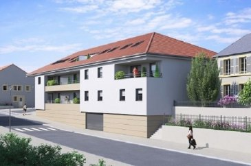 Appartement de 4 pièces composé d'une entrée, d'un dégagement, de 3 chambres, d'une cuisine ouverte sur le séjour, une salle de bain baignoire avec un meuble vasque et WC séparé. Un jardin privatif de 76,17m2. Un parking et un local à vélo + (local OM prévus) Possibilité d'un garage fermé (14000€)
