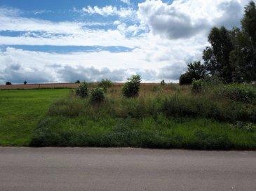 Magnifique terrain situé dans un nouveau lotissement en fin de zone habitable, Vue arrière plein sud sur des prairies. Terrain destiné à une maison unifamiliale (20 m de face) Les plans et les autorisations sont finalisés avec contrat de construction Hanse Haus.