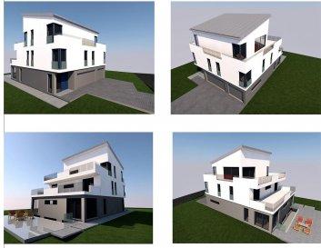 Nouvelle construction  en vente sur plan. commencement du chantier en septembre 2018. Duplex avec garage et jardin privatif. Orienté plein sud