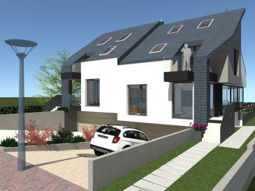 !!!!!!!!!!! Maison D\'Architecte Nouvel Construction !!!!!!!!!!!!!!!<br><br>Immo Nordstrooss S.à r.l. a le plaisir de présenter une maison en état futur construction, spacieuse et moderne. <br>CLÉ EN MAINS ?3 CHAMBRES À COUCHER ? GRAND JARDIN ? DOUBLE GARAGE <br>Maison jumelée en bande - sur un terrain de 3,37 ares avec les espaces suivants : <br>Surface habitable : 260 m2 +/-<br>La subdivision de la maison se distingue comme suit : <br>Au RDC : <br>- Une cuisine ouverte aves salle à manger de  avec accès à une terrasse <br>- Un hall d\'entrée / dégagement <br>- Un bureau<br>- Un WC séparé <br>- Une buanderie <br>- Un garage double avec emplacements pour motos <br>Au 1er étage :<br>- 2 Chambres à coucher<br>- une salle de bains <br>- une salle de douche <br>Au 2ème étage : <br>- Une suite parental avec salle de bain privatif accès au terrasse <br>- Grenier aménagé pour une 4ème chambre avec salle de bain privatif avec fenêtres cabriolet .<br>La maison possède un grand jardin privatif ainsi que 2 emplacements extérieurs avec une importante surface habitable. Elle est construite avec du haut de gamme, une façade attrayante et convient à toute la famille. <br>Un soin particulier est apporté à la qualité des matériaux utilisés et au choix des corps de métiers pour assurer une bonne exécution des travaux. <br>Plans et cahier des charges et photos ,disponibles sur simple demande à l\'agence. Les honoraires d\'agences sont à charge du/des vendeur(s) <br><br>Pour plus d\'informations par rapport à ce projet exceptionnel ou si vous voulez convenir d\'un rendez-vous n\'hésitez pas à nous contacter au GSM 691 238 008