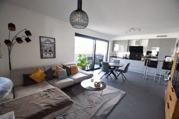 -----------VENDU--------Exclusivité, ImmoHouse vous propose ce superbe appartement 2 chambres de CONSTRUCTION 2019 classe A-A située dans une rue calme et résidentielle de Differdange.  Au sein d'une copropriété avec ascenseur de 9 unités ce superbe appartement de 77,31m² avec prestations de standing se compose de :  -Un spacieux hall d'entrée avec placard intégré -Un superbe salon/salle à manger très lumineux avec terrasse et marquise -Deux belles chambres à coucher dont l'une avec dressing -Une cuisine équipée SIEMENS ouverte sur la pièce de vie -Une magnifique salle de douche avec wc  A cela s'ajoutent: -Un emplacement intérieur privatif -Une cave privative -Une buanderie  Un magnifique objet à découvrir...  Infos et visites sur rdv