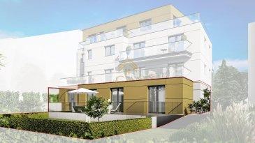 DERNIER APPARTEMENT !!  <br><br>Appartement exceptionnel de 90,75 m² au rez-de-chaussée avec une grande terrasse de 43,94 m² et un jardin privatif de 62,77 m². <br>Composé de 2 chambres, cuisine, séjour, salle de bain, Wc séparé, et une cave.  <br><br>Un emplacement de parking intérieur est disponible en supplément au prix de 45.000€ hors TVA.<br><br>Il s\'agit d\'une vente en l\'état futur d\'achèvement.<br>En optant pour un achat en VEFA vous profitez de la personnalisation de votre logement. <br>Au fur et à mesure de l\'avancement des travaux, vous serez invités par nos fournisseurs en leur locaux afin de choisir vos aménagements intérieurs (couleurs, revêtements de sols, faïences murales, meuble de salle de bain, vasque). Ces différents choix sont compris dans le prix de l\'appartement suivant cahier des charges.<br>   <br>Étant une résidence de haut standing, les budgets alloués pour le choix des différentes prestations, sont les suivants:<br><br>Sanitaires : EUR 10.000,00 TTC hors pose, <br>Carrelages : EUR 70,00/m² TTC hors pose, <br>Portes intérieures : EUR 500,00 TTC hors pose, <br><br>Les prestations comprennent entre autres :<br>- Peinture, <br>- Système domotique, <br>- Chauffage au sol,  <br>- Triple vitrage,  <br>- Système de ventilation double flux,<br>- Pompe à chaleur  <br>- Façade en panneaux TRESPA, <br>- Stores à lamelles électriques,<br>- et des finitions de qualité et des équipements provenant de marques reconnues tels que Villeroy&Boch.<br>Elle est conçue pour vous garantir un confort optimal et des espaces de vie de qualité.  <br><br>Situation idéale, l\'appartement se situe au Rollingergrund, à 500 m de la Place de l\'Étoile, de la voie de Tram et de l\'échangeur de bus.<br><br>Le prix de vente inclut le taux TVA super réduit de 3% qui est applicable sur demande auprès de l\'Administration de l\'Enregistrement et des Domaines et vaut uniquement dans le cas d\'acquisition d\'une résidence principale.<br><br>Nous sommes disponibles pour vous f