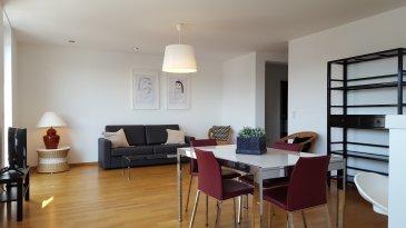 A louer à Luxembourg Hollerich, un appartement meublé au 4ème étage dans une résidence avec ascenseur comprenant un hall d'entrée, une cuisine équipée ouverte, un séjour, deux chambres avec placards, une salle de douche, une salle de bain, une toilette séparée, un balcon, une cave, une buanderie commune.  Libre de suite. Caution 7950 Eur