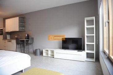 Beau studio de 30,69 m2 totalement meublé situé au 3ième étage d?une résidence moderne.  Le studio dispose de : Pièce ouverte, cuisine équipée et une salle de bain   WC.  La résidence est idéalement située à proximité du nouveau quartier de la Cloche d?Or ainsi que du centre de la Ville de Luxembourg.   Ref agence :B196