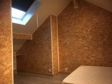 Appartement F2.  IMLING, à 5 min de Sarrebourg : BEL APPARTEMENT F2 au 1er étage d'un petit immeuble comprenant : entrée, cuisine équipée, séjour, SDB-WC, 1 chambre avec mezzanine et placard. Chauffage collectif fioul.