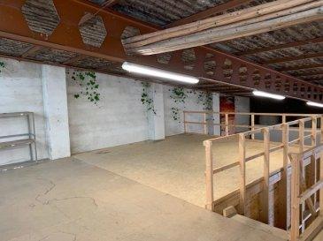 Grand DEPÔT/ENTREPÔT  - +/- 215 m2 au sol et 85 m2 en mezzanine - Belle hauteur intérieure - Accès par une grande porte électrique - Idéal pour du stockage - Disponibilité immédiate  Attention: il n'y a pas d'eau dans le local  Loyer: 2950€/mois Caution: 8850€ Commission d'agence: 3451.50€  N'hésitez pas de nous contacter pour amples renseignements.  tria@newgest.lu